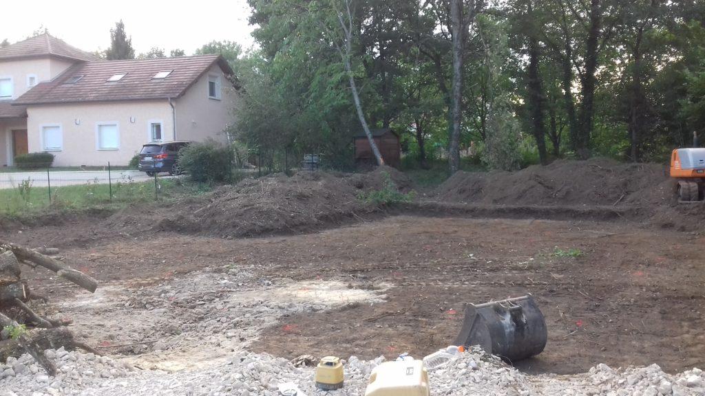 Terrassement d'une maison individuelle