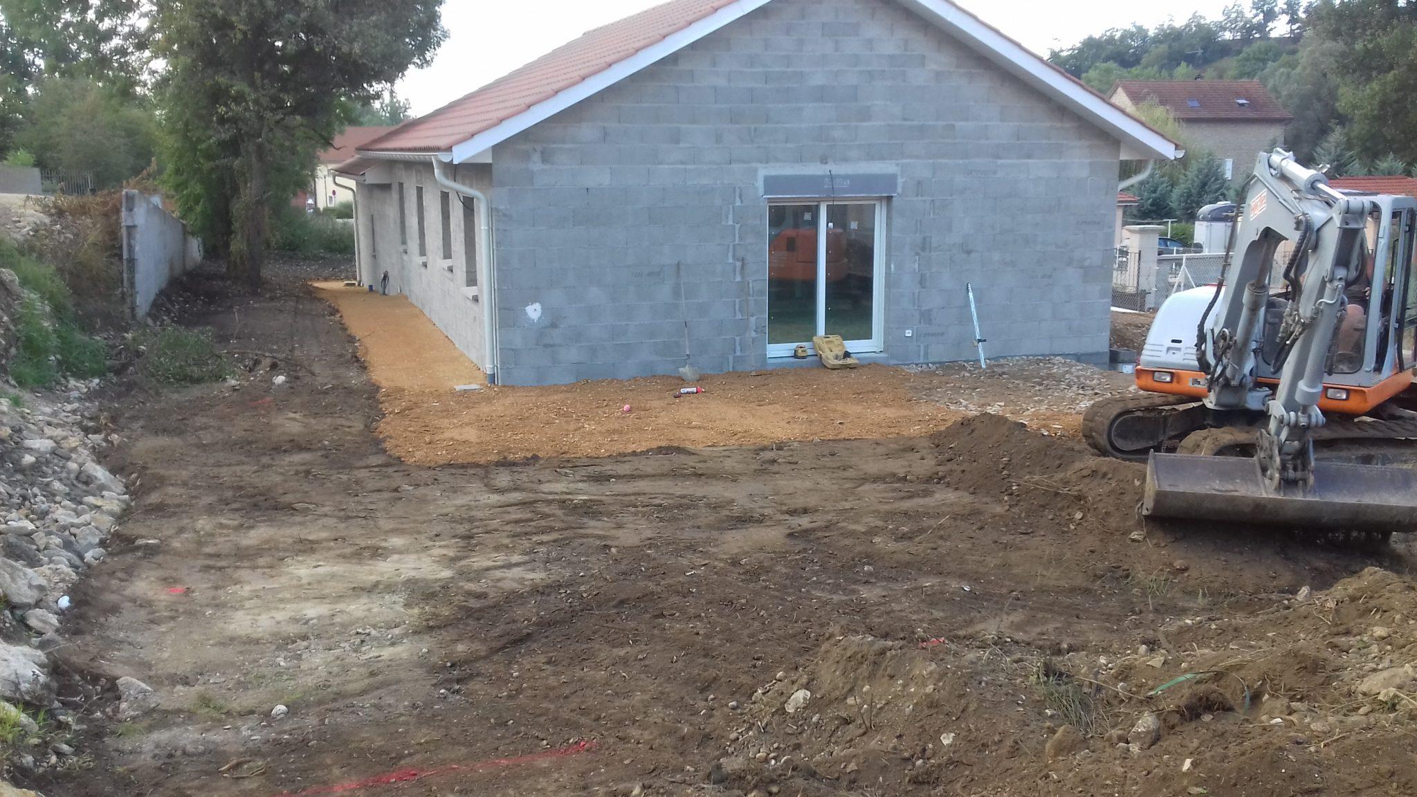 Remise en place de terre en fin de chantier